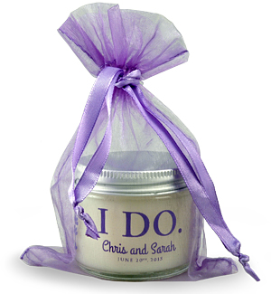 Wedding Aromatherapy Jar in Lavender Organza Bag