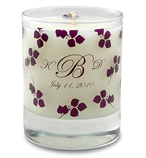 Wedding Soy Candle in 3oz. Clear Votive